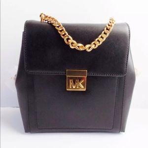NWT Michael Korda Mindy Medium Leather Backpack
